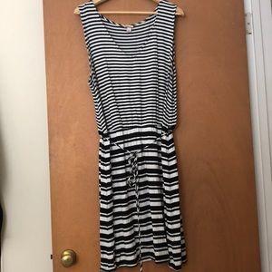 Marona Black & White Striped Sundress